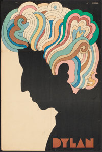 """Bob Dylan by Milton Glaser (CBS Records, 1966) Folded, Fine. Album Poster (22"""" X 33""""). Rock and Roll"""