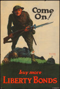 "Movie Posters:War, World War I Propaganda (U.S. Government Printing Office, 1918).Rolled, Fine/Very Fine. Liberty Bond Poster (19.75"" X 29.25""..."