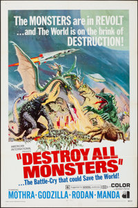"Destroy All Monsters (American International, 1969). Folded, Very Fine-. One Sheet (27"" X 41""). Reynold Brown..."
