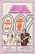 """Movie Posters:James Bond, Dr. No/From Russia with Love Combo (United Artists, R-1965). Folded, Very Fine-. One Sheet (27"""" X 41""""). James Bond.. ..."""