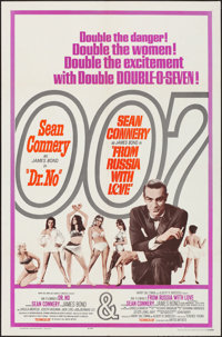 """Dr. No/From Russia with Love Combo (United Artists, R-1965). Folded, Very Fine-. One Sheet (27"""" X 41""""). James..."""