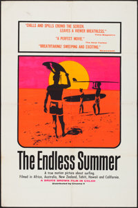 "The Endless Summer (Cinema 5, 1966). Folded, Very Fine-. Silk Screen Day-Glo One Sheet (27"" X 41""). John Van H..."