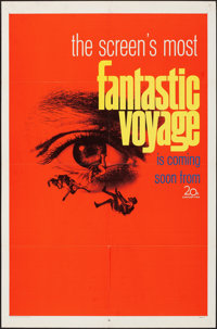 "Fantastic Voyage (20th Century Fox, 1966). Folded, Very Fine-. One Sheet (27"" X 41"") Teaser. Science Fiction..."