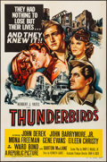 """Movie Posters:War, Thunderbirds & Other Lot (Republic, 1952). Folded, Very Fine.One Sheet (27"""" X 41"""") & Autographed Stock One Sheet (27"""" X41""""... (Total: 2 Items)"""