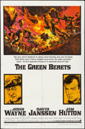 "Movie Posters:War, The Green Berets (Warner Brothers-7 Arts, 1968). Folded, Very Fine-. One Sheet (27"" X 41""). Frank McCarthy Artwork. War.. ..."