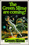 "Movie Posters:Science Fiction, The Green Slime (MGM, 1969). Folded, Very Fine-. One Sheet (27"" X 41""). Vic Livoti Artwork. Science Fiction.. ..."