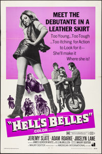 "Hell's Belles (American International, 1969). Folded, Very Fine-. One Sheet (27"" X 41""). Exploitation"