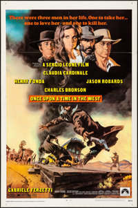 """Once Upon a Time in the West (Paramount, 1969). Folded, Very Fine-. One Sheet (27"""" X 41""""). Frank McCarthy Artw..."""