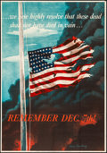 """Movie Posters:War, World War II Propaganda (U.S. Government Printing Office, 1942).Folded, Very Fine-. OWI Poster No. 14 (28"""" X 40"""") """"Remember..."""