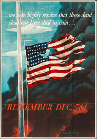 "World War II Propaganda (U.S. Government Printing Office, 1942). Folded, Very Fine-. OWI Poster No. 14 (28"" X 40&qu..."