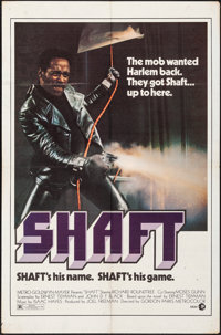 "Shaft (MGM, 1971). Folded, Fine/Very Fine. One Sheet (27"" X 41""). Blaxploitation"