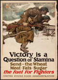 "Movie Posters:War, World War I Propaganda (United States Food Administration, 1917).Rolled, Fine. Poster (21"" X 29"") ""Victory is a Question of..."