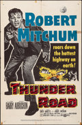 "Movie Posters:Crime, Thunder Road (United Artists, 1958). Folded, Fine+. One Sheet (27""X 41""). Crime.. ..."