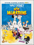 """Movie Posters:Animation, 101 Dalmatians (Walt Disney Productions, R-1980). Folded, Very Fine+. French Grande (47"""" X 62.75""""). Animation.. ..."""