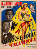 """Movie Posters:Foreign, Mi Noche de Bodas (Pereda, 1955). Folded, Fine/Very Fine. Mexican One Sheet (27"""" X 37""""). Foreign.. ..."""