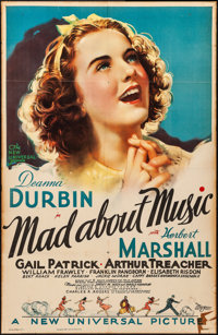 """Mad About Music (Universal, 1938). Folded, Fine. One Sheet (26"""" X 40""""). Musical"""
