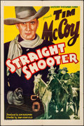 "Movie Posters:Western, Straight Shooter (Victory, 1939). Folded, Fine/Very Fine. One Sheet(27"" X 41""). Western.. ..."