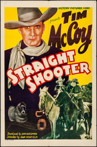 "Straight Shooter (Victory, 1939). Folded, Fine/Very Fine. One Sheet (27"" X 41""). Western"