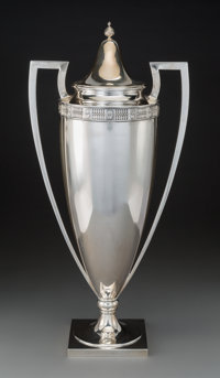 A Large Whiting Manufacturing Company Silver Covered Urn, Providence, Rhode Island, 1913 Marks: J.E. CALDWELL &...