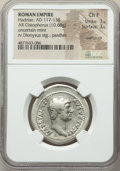 Ancients:Roman Imperial, Ancients: Hadrian (AD 117-138). AR cistophorus (29mm, 10.68 gm,7h). NGC Choice Fine 3/5 - 3/5, overstruck...