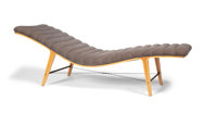 Edward Wormley (American, 1907-1995) Listen-to-Me Chaise, circa 1950, Dunbar Furniture Company Maple