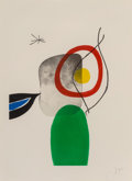 Joan Miró (1893-1983) Tir à l'arc, 1972 Etching and aquatint in colors with carborundum on Arches pa