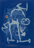 Prints & Multiples:Print, Joan Miró (1893-1983). The Illiterate (Blue), 1969. Lithograph in colors on BFK Rives paper. 33-1/4 x 23-3/4 inches (84....