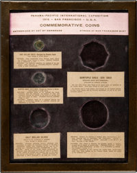 (1915) Panama-Pacific International Exposition Five-Coin Copper Frame....(PCGS# 7452)