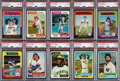 Baseball Cards:Sets, 1974 Through 1976 Topps Mid to High Grade Baseball Sets (5)....