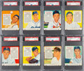 Baseball Cards:Lots, 1955 Red Man PSA-Graded Collection (13). ...