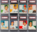 Baseball Cards:Lots, 1953 Red Man PSA-Graded Collection (16). ...