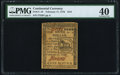 Colonial Notes:Continental Congress Issues, Continental Currency February 17, 1776 $1/6 PMG Extremely Fine 40.....