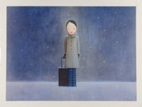 Liu Ye (b. 1964) Leave me in the Dark, 2009 Screenprint in colors on paper 27-1/2 x 44 inches (69