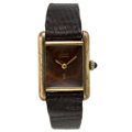 Estate Jewelry:Watches, Cartier Gentleman's Wood Must de Cartier Vermeil Watch. ...