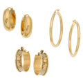 Estate Jewelry:Earrings, Gold Earrings. ... (Total: 3 Items)