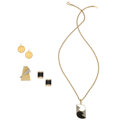 Estate Jewelry:Lots, Diamond, Black Onyx, US Coin, Gold Jewelry . ... (Total: 4 Items)