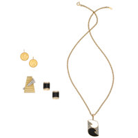 Diamond, Black Onyx, US Coin, Gold Jewelry