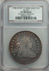 1798 $1 Large Eagle, Pointed 9, Wide Date, B-19, BB-106, R.5, -- Plugged, Whizzed -- NCS Details. Vf. NGC Census: (0/10)...