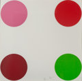 Prints & Multiples:Print, Damien Hirst (b. 1965). Curare, from 40 Woodcut Spots, 2011. Woodcut in colors on Somerset White paper. 18 x 18 inch...