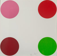 Damien Hirst (b. 1965) Curare, from 40 Woodcut Spots, 2011 Woodcut in colors on Somerset