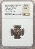 Ancients:Ancient Lots  , Ancients: ANCIENT LOTS. Greek. Ca. 380-317 BC. Lot of two (2) ARfractions. NGC VF-Choice VF.... (Total: 2 coins)