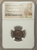 Ancients:Ancient Lots  , Ancients: ANCIENT LOTS. Roman Imperial and Ostrogoths. Ca. AD305-526. Lot of three (3) AEs. NGC VF-XF.... (Total: 3 coins)