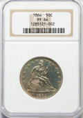 Proof Seated Half Dollars, 1864 50C PR64 NGC....