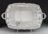 A Large William Eley II Silver Two-Handled Tray, London, 1826 Marks: (lion passant), (leopard's head), (duty mark)