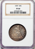 Proof Seated Half Dollars, 1859 50C PR64 NGC....