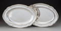 Silver & Vertu, A Pair of Paul Storr Silver Meat Platters, London, 1826. Marks: (lion passant), (leopard's head), (duty mark), l, PS. 10... (Total: 2 Items)