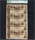 Obsoletes By State:Virginia, Richmond, VA- James River and Kanawha Company $5-$5-$5-$5 18__ Uncut Sheet PCGS Choice About New 55.. ...