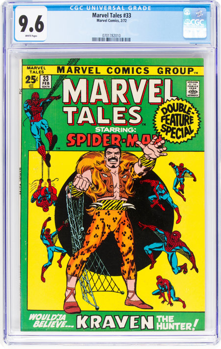 Marvel Tales #33 (Marvel, 1972) CGC NM+ 9.6 White pages....