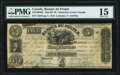 Canadian Currency, Montreal, PQ- Banque du Peuple $5 2.5.1836 Ch.# 575-10-04-02 PMG Choice Fine 15.. ...