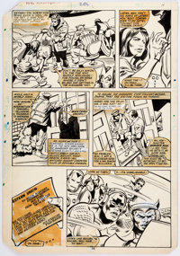 Gene Colan and Dan Green Avengers #208 Page 14 Original Art (Marvel, 1980)
